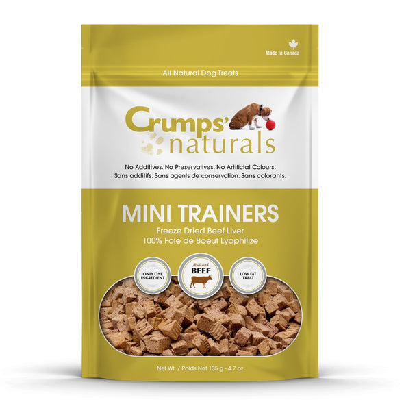 Crumps' Naturals Mini Trainers Freeze Dried Beef-Store For The Dogs
