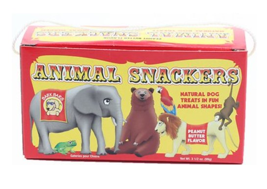 Animal Snackers Peanut Butter Flavor Dog Treat by Bark Bars-Store For The Dogs