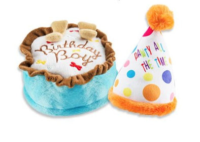 Birthday Cake & Party Hat Squeaky Toys by Haute Diggity Dog-Store For The Dogs