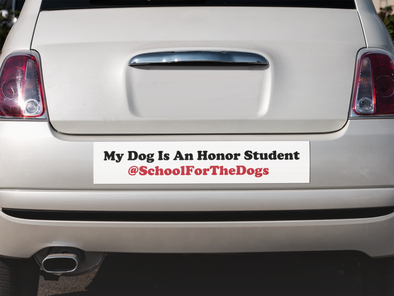 """My Dog Is An Honor Student"" Dog Bumper Sticker-Store For The Dogs"