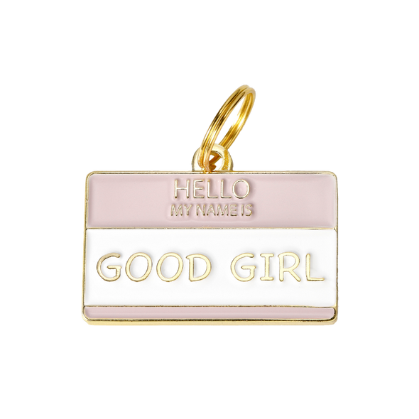 Hello My Name is 'Good Girl' Tag by Two Tails-Store For The Dogs