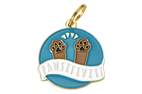Pawsitivity Tag by Two Tails-Store For The Dogs