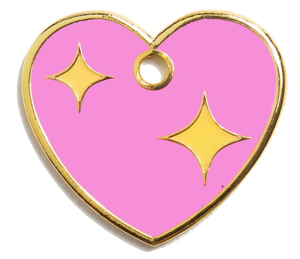 Pink Heart Tag by Trill Paws-Store For The Dogs