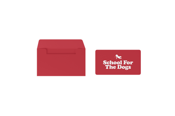 School For The Dogs Gift Card-Store For The Dogs