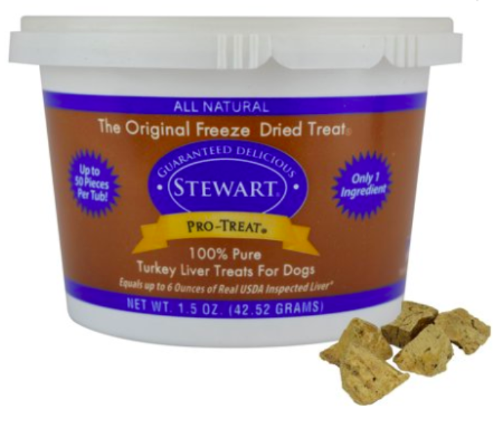 Stewart Pro-Treat Freeze Dried Turkey Liver (1.5 oz)-Store For The Dogs