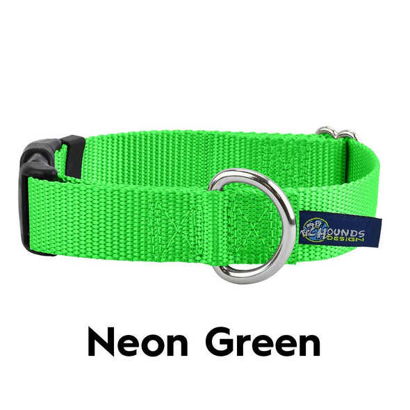 "1"" Side Release Nylon Dog Collar by 2 Hounds Design-Store For The Dogs"