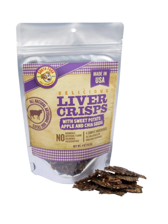 Liver Crisps with Sweet Potato, Apple + Chia Seeds by South Fork Artisanal Treats-Store For The Dogs