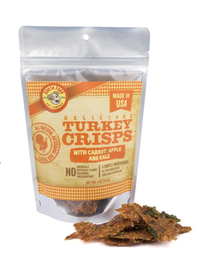 Turkey Crisps with Carrot, Apple + Kale, by South Fork Artisanal Treats-Store For The Dogs