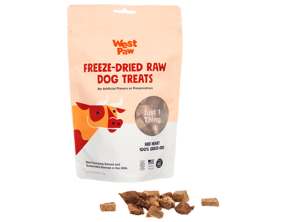 Freeze Dried Beef Heart Single Ingredient Treats by West Paw-Store For The Dogs