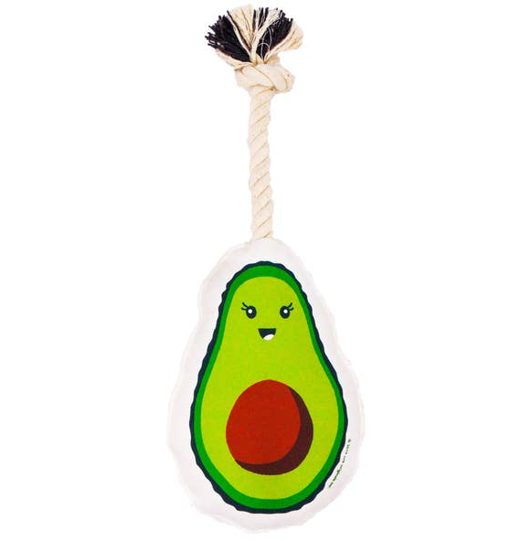 Avocado Squeaky Rope Toy-Store For The Dogs