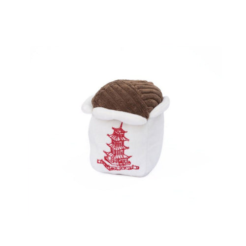 Chinese Food Takeout Squeaky Toy by ZippyPaws-Store For The Dogs