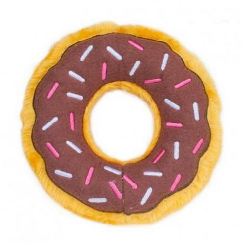 Doughnut Squeaky Toy by ZippyPaws-Store For The Dogs