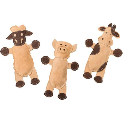 Leather Barnyard Plush Toys-Store For The Dogs