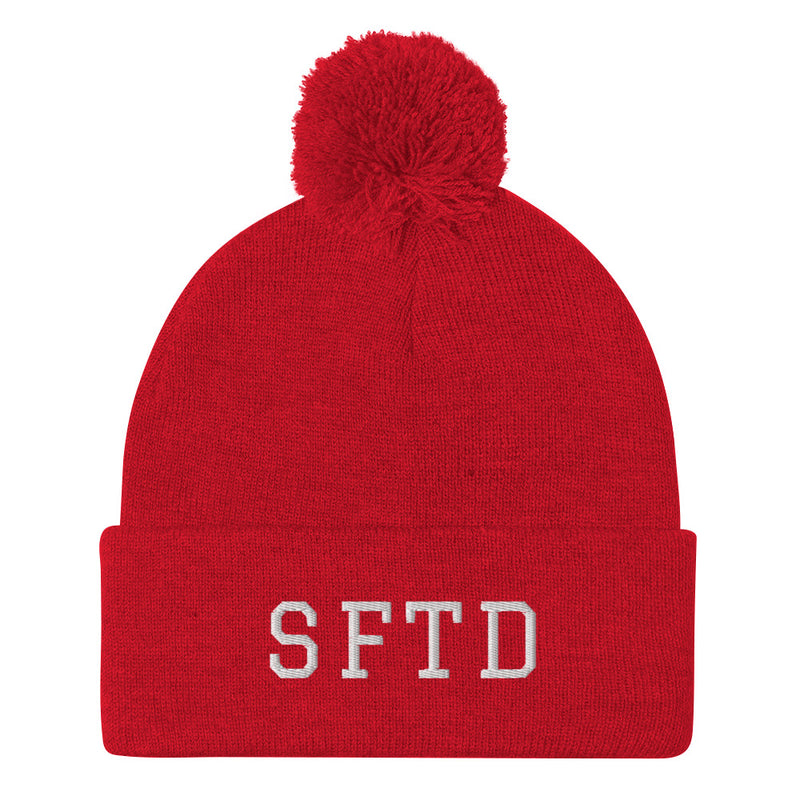"School For The Dogs ""SFTD"" Pom-Pom Beanie-Store For The Dogs"