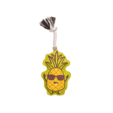 Pineapple Squeaky Rope Toy-Store For The Dogs