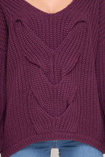 Long Sleeve Sweater w/ Cable Knit Detail