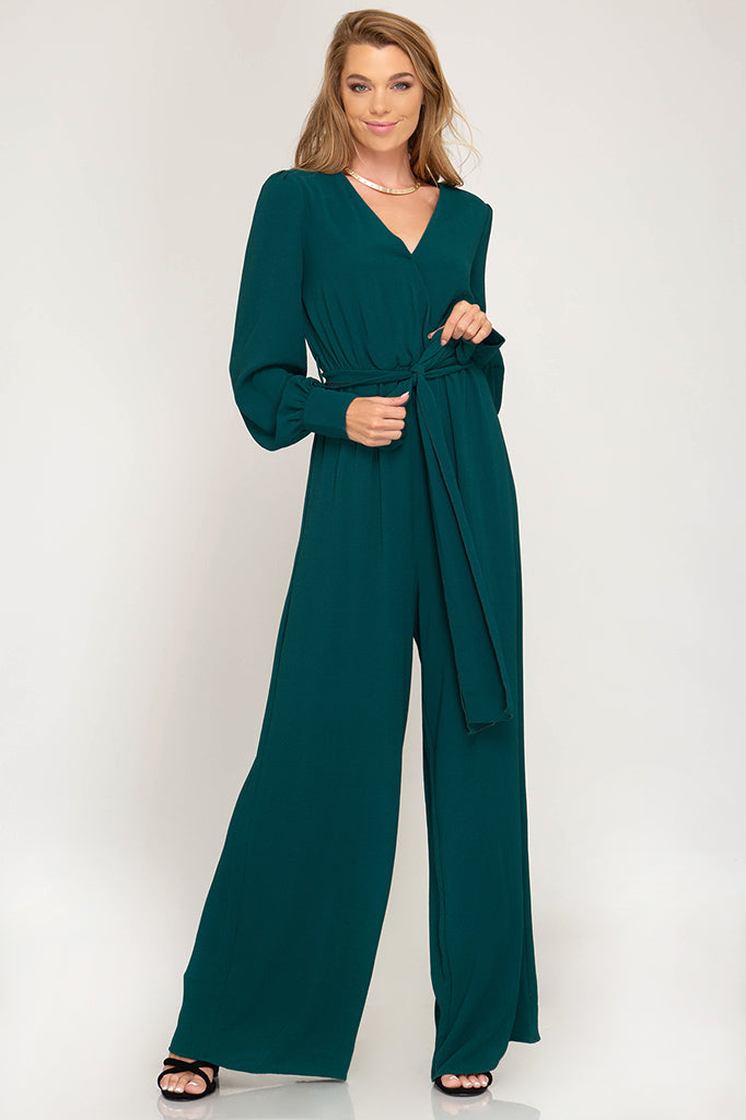 Long Sleeve Maxi Jumpsuit
