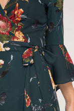 3/4 Bell Sleeve Floral Midi Dress
