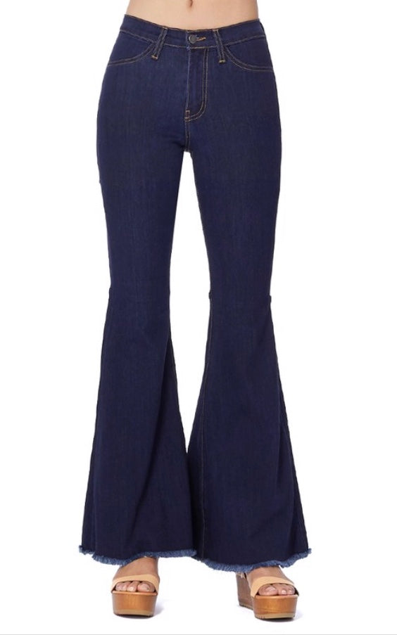 High Waisted Flare Bell Bottoms