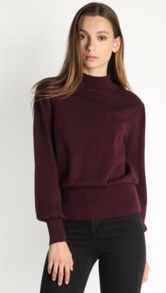 Turtleneck Sweater with Back Cut Out