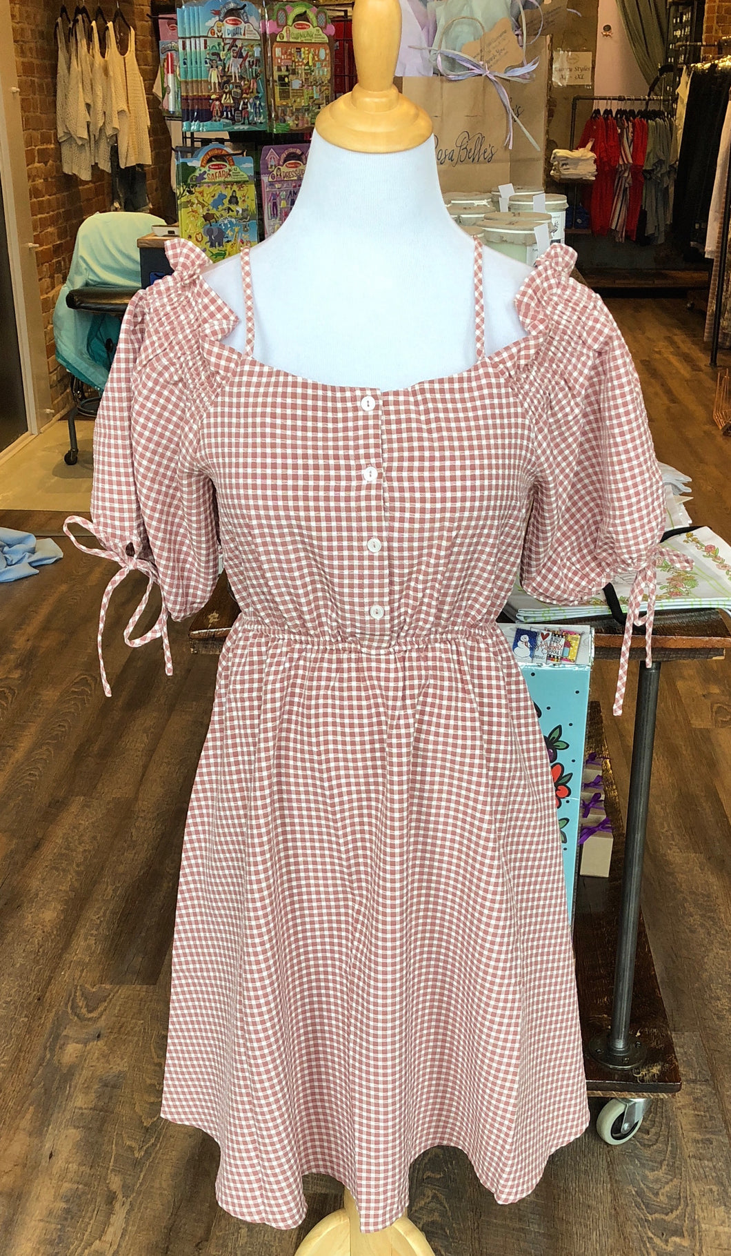 Gingham Flirty Dress