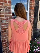 Sleeveless Hi-Low Babydoll Top W/ Lace T-Back