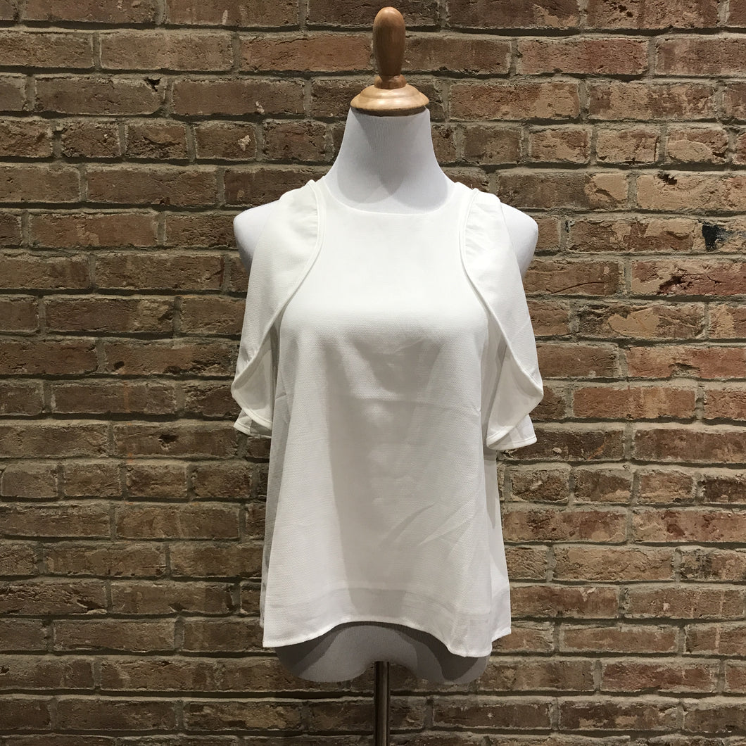 Sleeveless Top With Armhole Ruffles