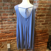 Dusty Blue Swing Dress w/ Tie