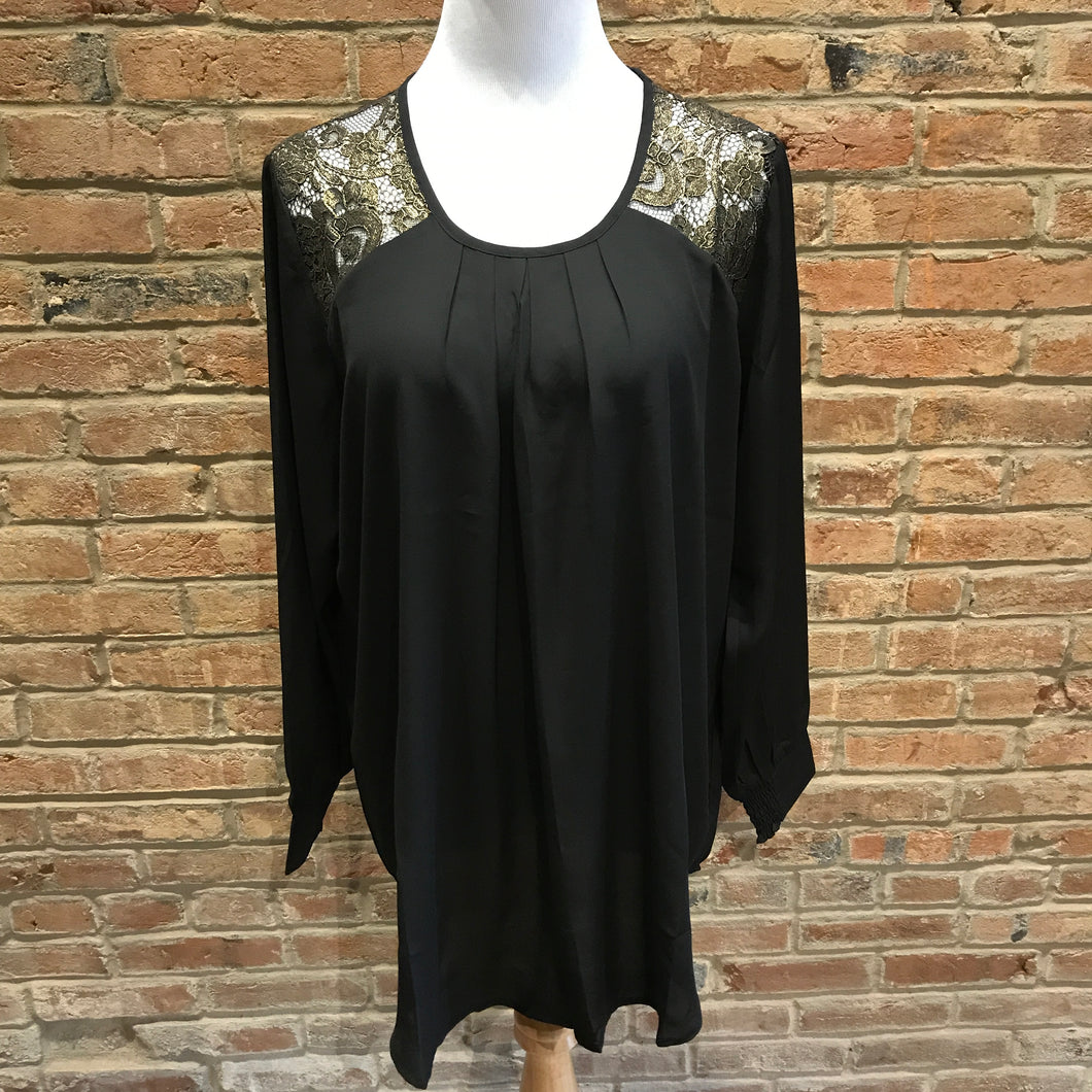 Black Top With Gold Lace