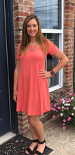 Coral Swing Dress