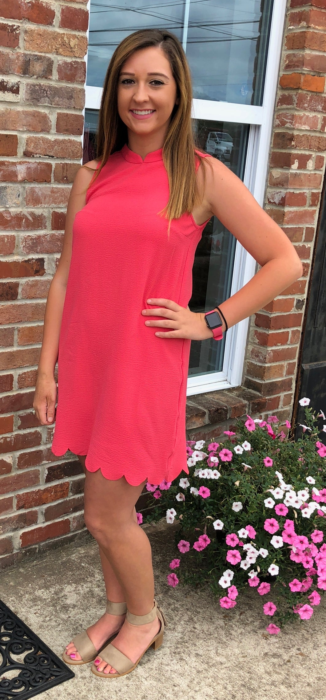 Pink Scallop Dress