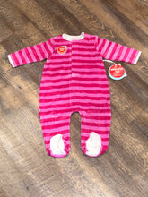 Hot Pink/Berry Velour Magnetic Footie