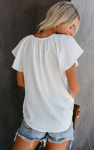Solid White Short Sleeve Top
