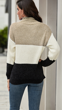 Turtle Neck Color Block Sweater