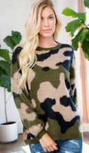 Camo Cozy Sweater