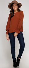 Long Sleeve Bubble Top