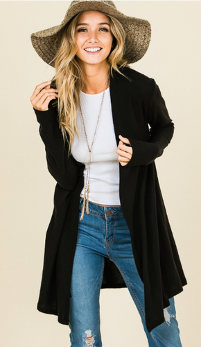 Loose Fit Open Cardigan