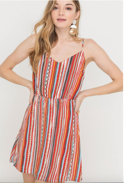 Tie Back Accent Dress