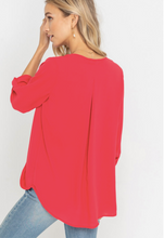 Draped Crossover Blouse