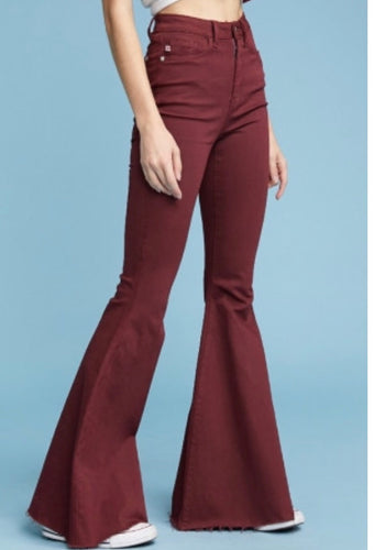 Super Flare Raw Hem Bell Bottoms