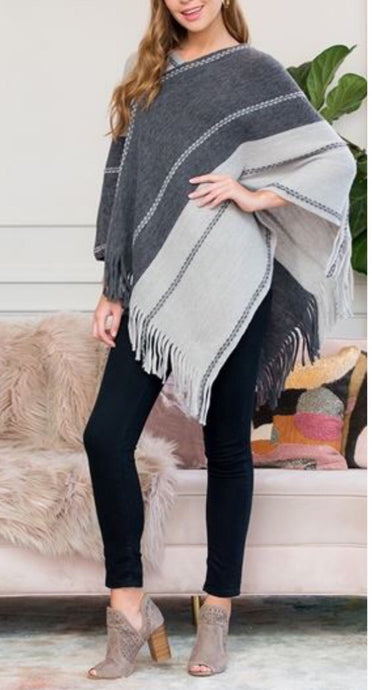 Two Toned Poncho