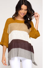 Color Blocked Hi-Low Sweater