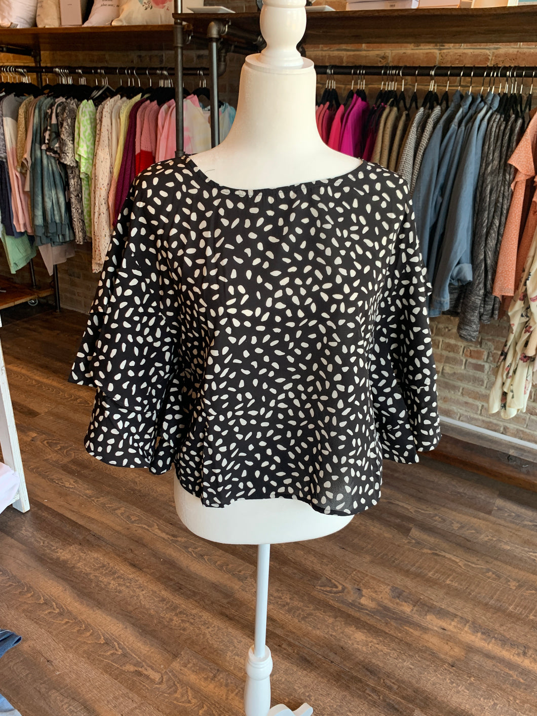 Ruffled Dalmatian Top