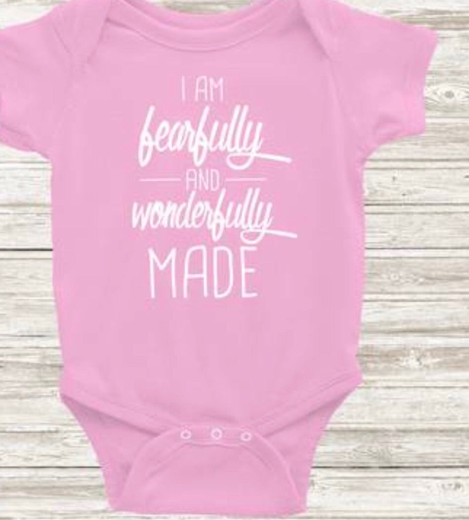 Fearfully & Wonderfully Made Onesie