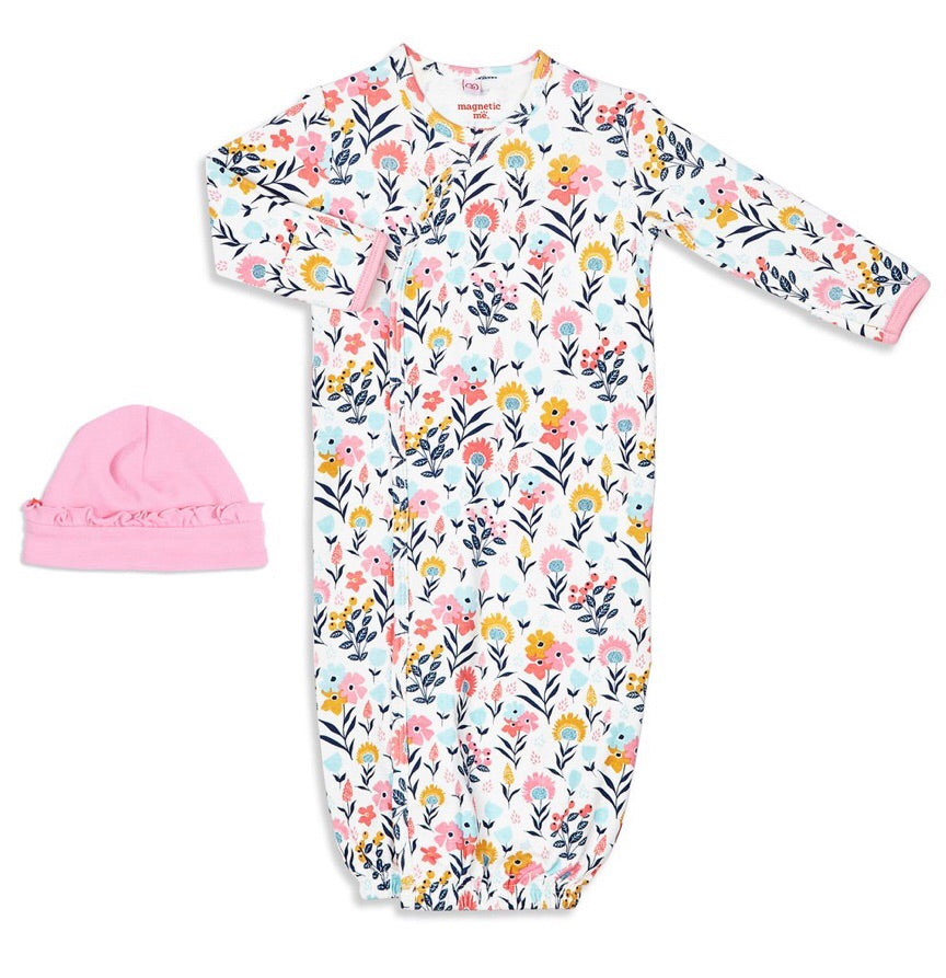 Sussex Floral Gown & Hat Set