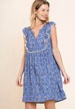 Sleeveless Embroidered Dress w/ Crochet Trim