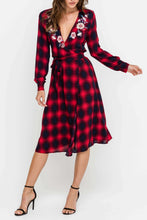 Woven Plaid Dress