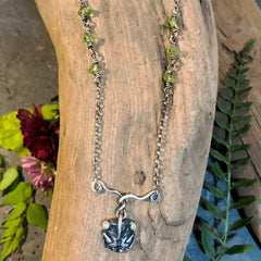 Green Eyed Cicada Necklace