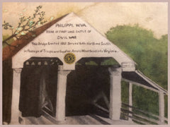 Philppi, WV Covered Bridge Original Watercolor by An Gilligan 1989