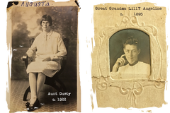Aunt Gusty and Grandma Lily Angeline